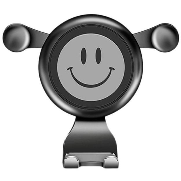 商品详情 - 买三送二 中国直邮车载重力手机支架汽车出风口导航架 汽车用品 灰色一件 - image  0