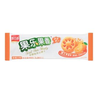 嘉士利 果乐果香 果酱味夹心饼干 香橙味 93g