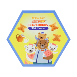 BISKITOP Bear Cookies Milk Flavor 5pk