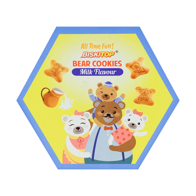 Product Detail - BISKITOP Bear Cookies Milk Flavor 5pk - image 0