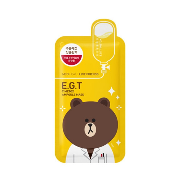 Product Detail - MEDIHEAL X LINE FRIENDS E.G.T Timetox Ampoule Mask 1sheet - image 0