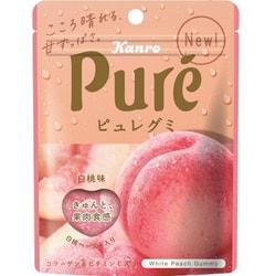 DHL直发【日本直邮】KANRO PURE Premium高级系列 心型果汁胶原蛋白软糖 白桃味 56g