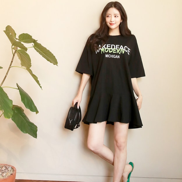 Product Detail - SUMPARTY Flare Sweatshirt Dress #Black One Size(Free) - image 0