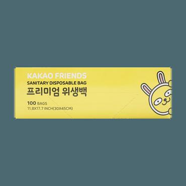 【新品】韩国 KAKAO Friends 一次性塑料袋 储物袋 大号 100个 30x45cm