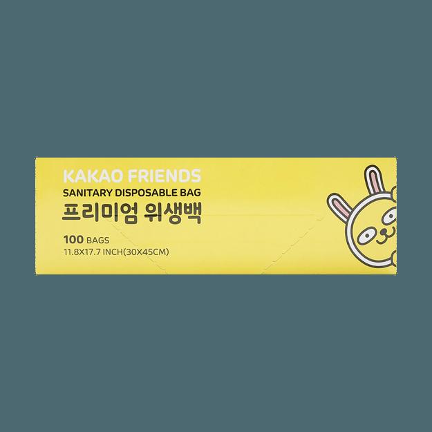 Product Detail - Korea KAKAO Friends Disposable Bag Size L Large 100bags 30x45cm - image 0
