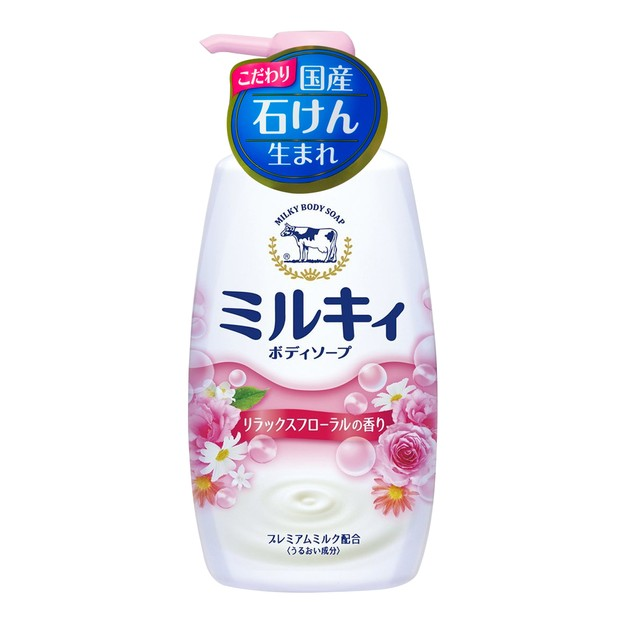 Product Detail - COW Milky Body Soap Relax Floral Fragrance Pumps 550ml - image 0