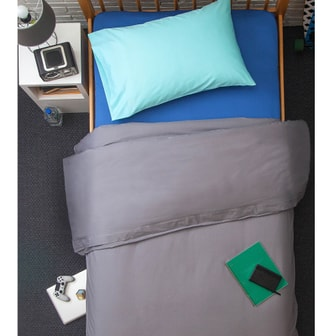 BOXT TEDDY [Designed For Students] All Cotton 3 Pieces Bedding Set #Silverlake Twin XL