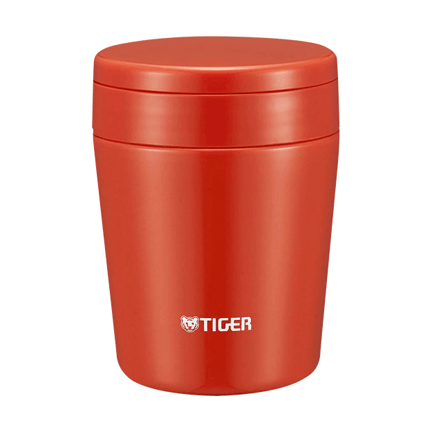 Product Detail - TIGER Stainless Steel Thermal Vacuum Insulated Food Jar Soup Cup #Chili Red 300ml MCL-B030 RC - image 0