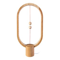 ALLOCACOC Lightweight Magnetic Switch in Mid Air USB Powered LED Heng Balance Lamp #Light Wood Red Dot Award Winner