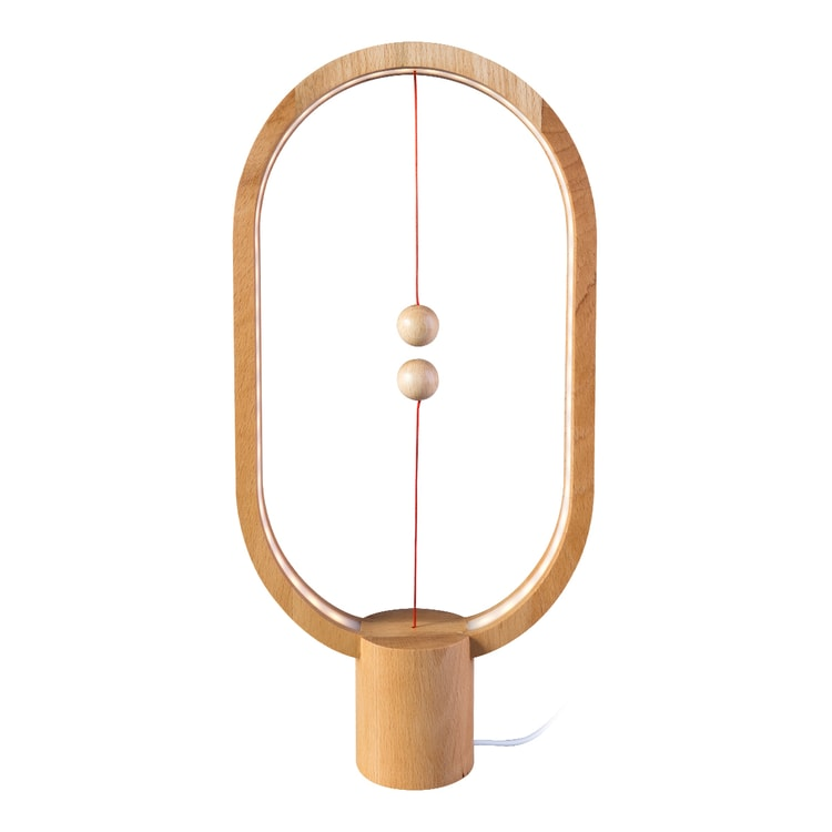 ALLOCACOC Lightweight Magnetic Switch in Mid Air USB Powered LED Heng Balance Lamp #Light Wood Red Dot Award Winner - Yamibuy.com