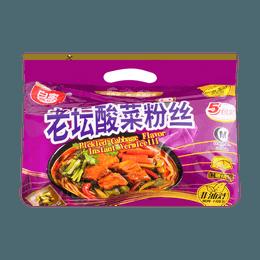 白家陈记 非油炸 老坛酸菜粉丝 5包入 550g