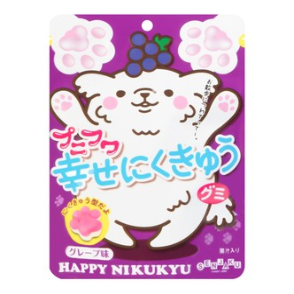 日本SENJAKU扇雀饴 动物脚印软糖 葡萄味 57g