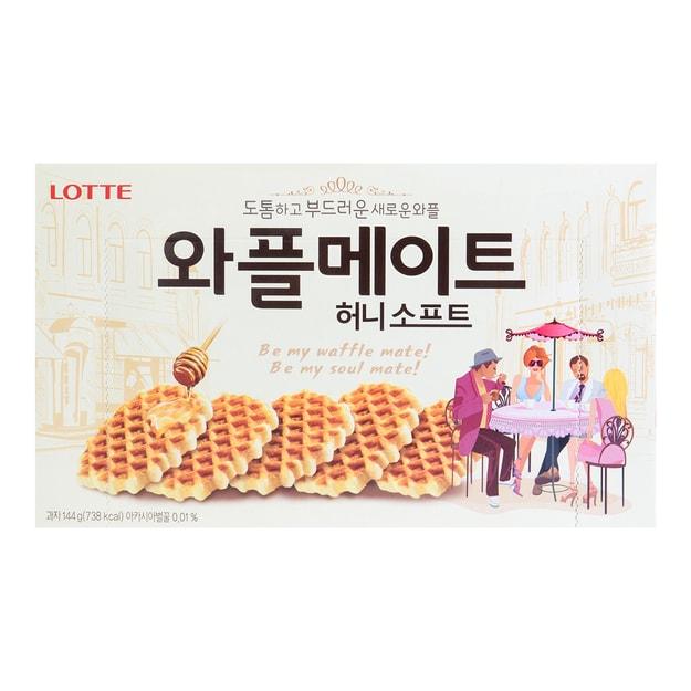 商品详情 - 韩国LOTTE乐天 蜂蜜华夫酥脆饼干 144g - image  0