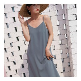 NICHE MARKET ELEGANT V LINE SLIP DRESS ONE SIZE