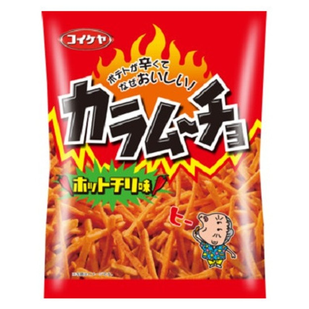 Product Detail - KOIKEYA Spicy Potato Sticks with Hot Chilli Kara Mucho 105g - image 0