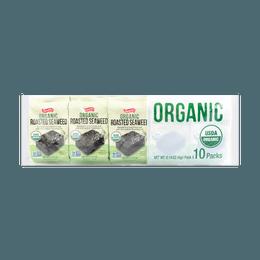 日本SHIRAKIKU赞岐屋 有机烤盐海苔 10包入 40g USDA认证