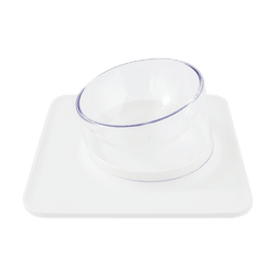 Pet Magnet Feeding Bowl for Cat and Dog Water Bowl and Food Bowl 131mm Single Bowl #White