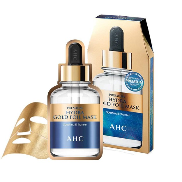 Product Detail - AHC Premium Hydra Gold Foil Mask Soothing Enhancer Whitening Anti Wrinkle Sheet Mask 5pc/box - image  0