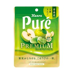 【日本直邮】日本KANRO PURE 期限限定  果汁弹力软糖 苹果味 56g