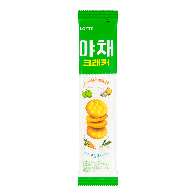Product Detail - LOTTE VEGGIE CRACKERS Sugar Free Low Calories 69g - image 0