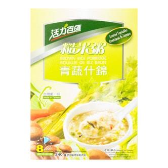台湾健康时代 活力百汇 青蔬什錦代餐糙米粥 6袋入 240g