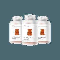 【玫瑰小熊特惠三盒装】澳洲Unichi 玫瑰高纯度高浓度胶原蛋白无糖小熊软糖 60粒 x3