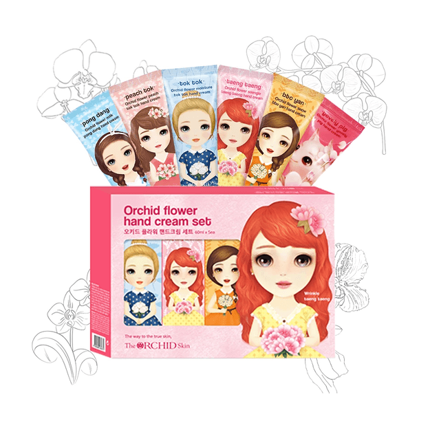 Product Detail - THE ORCHID SKIN Princess Hand Cream Set Promo  Limited quantity combination random match 5pc/box - image 0