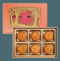 HONG KONG MEI-XIM Oriental Pearl Combo Mooncake Gift Box 6 Pieces 660g
