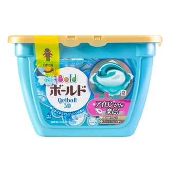 P&G Japan Laundry Wash Detergent Gel Ball Elegant Lily (Includes Fabric Softener) 18tablets 347g