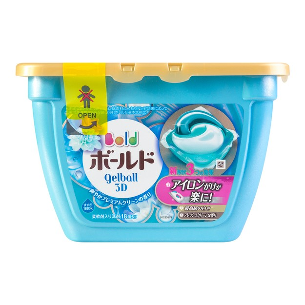 P&G Japan Laundry Wash Detergent 3D Gel Ball Elegant Lily (Includes Fabric Softener) 18tablets 347g