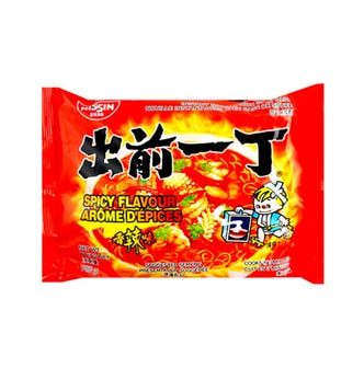 NISSIN Demae Ramen Noodle with Soup Base Spicy Flavor 100g