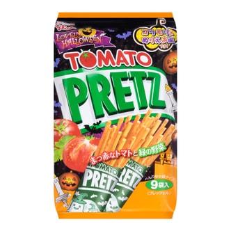 日本GLICO格力高 PRETZ饼干棒 番茄口味 9袋入 134.1g 万圣节特别款
