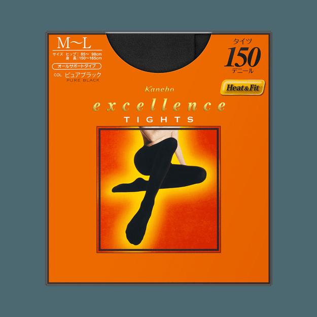 商品详情 - KANEBO 嘉娜宝||excellence 150D发热黑色连裤袜||M-L码 - image  0