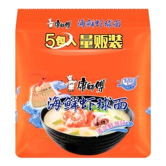 康师傅 海鲜虾球面 量贩装 5包入 485g