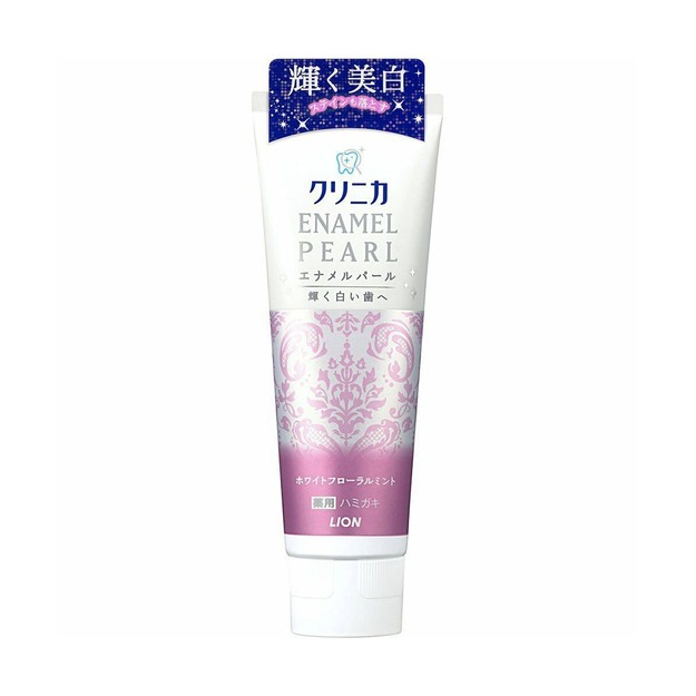 LION Enamel Pearl White Floral Mint Toothpaste 130g