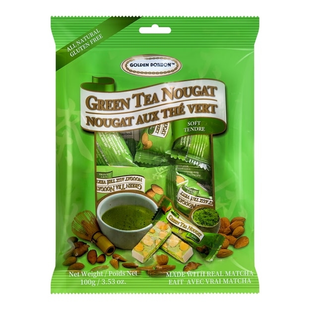 GOLDEN BONBON Soft Green Tea Nougat 100g