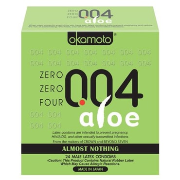 Adult toy OKAMOTO 004 Ultra Thin Aloe Condom 24 Pcs