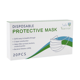 Safe Warrior Disposable Protective Face Mask 20pcs BFE≥98%