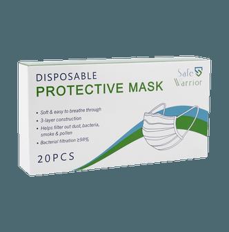 Safe Warrior 一次性防护口罩 20片装 细菌过滤率超过98%