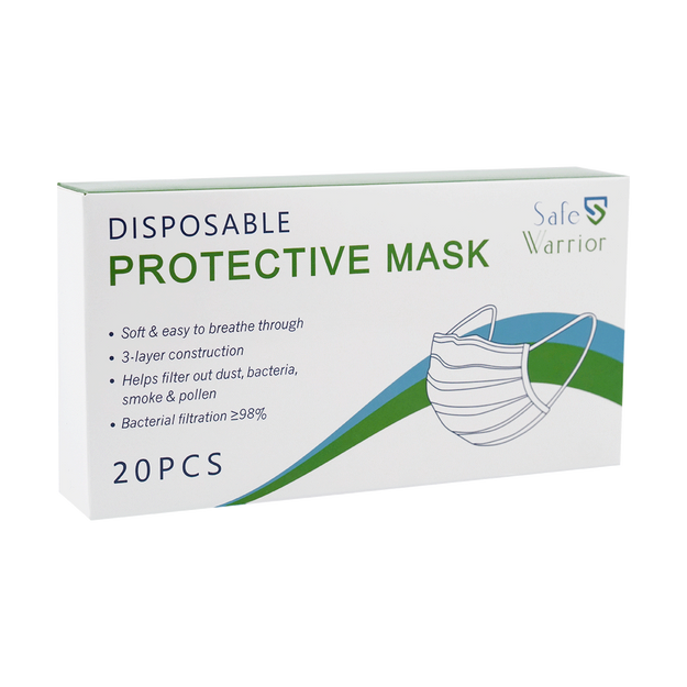 Product Detail - Safe Warrior Disposable Protective Face Mask 20pcs BFE≥98% - image 0