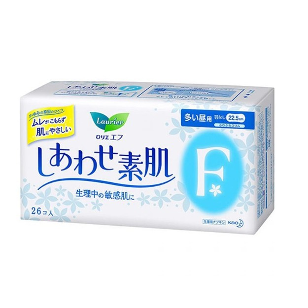 Product Detail - KAO LAURIER F Ultra Thin Sanitary Napkins Wing-Free Day Use 22.5cm 26pads - image  0