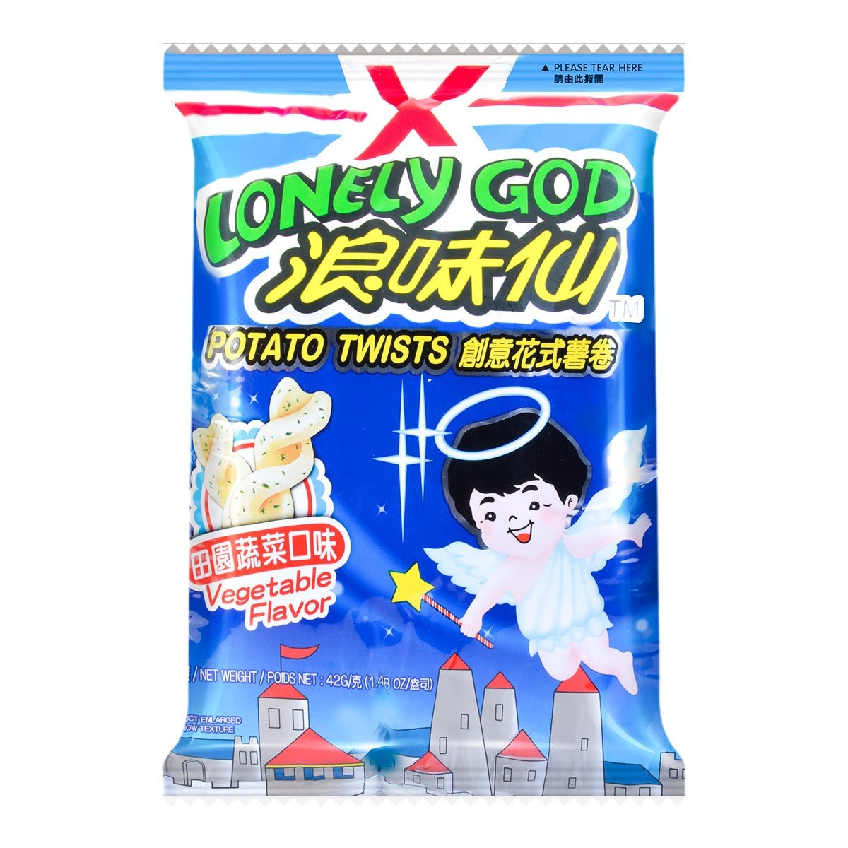 Yamibuy.com:Customer reviews:WANT WANT LONELY GOD Vegetable Flavor Potato Twists 42g