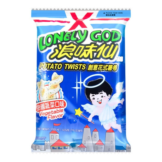 Product Detail - WANT WANT LONELY GOD Vegetable Flavor Potato Twists 42g - image 0