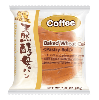 D-PLUS Natural Yeast Bread Coffee Flavor 80g
