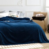 Qbedding  Extra Large Navy Blue Microplush Blanket