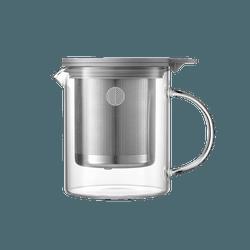 北鼎BUYDEEM 家用办公304不锈钢玻璃透明耐热冲茶泡茶壶 茶水分离 500ml