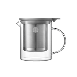 Heat-Resistant Transparent Glass Hot Teapot With Stainless Steel Infuser Basket Filter 500ml