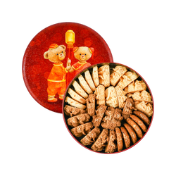 香港珍妮曲奇  小熊饼干综合四味 320g