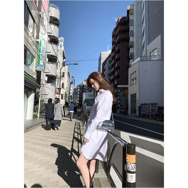 Product Detail - PRINSTORY 2019 Spring/Summer Must Have Simple Dress White/S - image 0