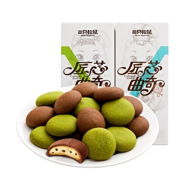 THREE SQUIRRELS Matcha sandwich cookie 160g